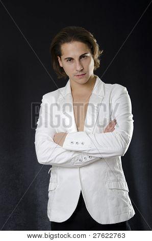 Serious caucasian man portrait