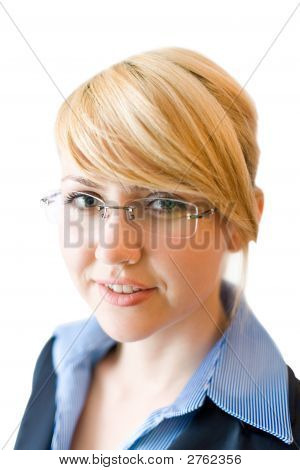 Geschäftsfrau-Blick in die Kamera. Close-up