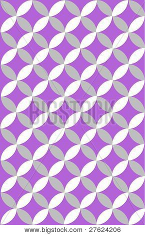 Gray & Plum Wedding Ring Circle Pattern