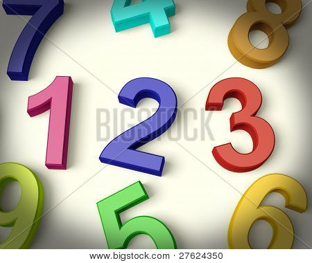 Kids Numbers Representing Numeracy And Education