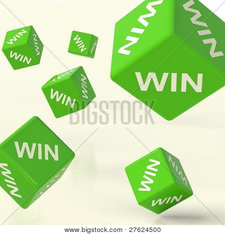 Win Dice Representing Triumph And Success