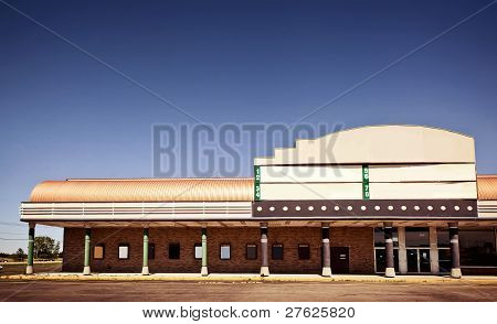 Movie theater building exterior