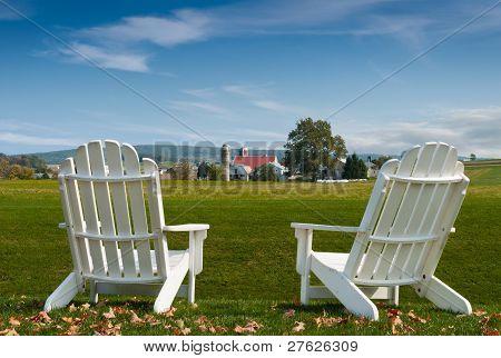 Cadeiras de Adirondack de Amish Country