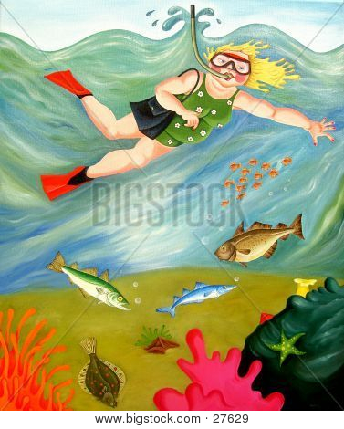 Betty Goes Snorkeling