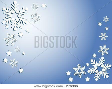 Los copos de nieve y las estrellas