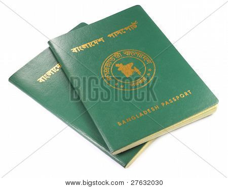 Close up of Bangladeshi passport