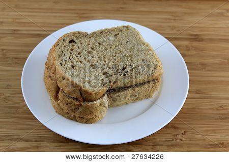 Multigrain Bread on the white plate