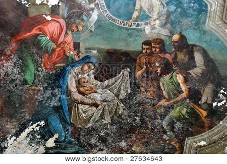 Weihnachten, alte Fresken