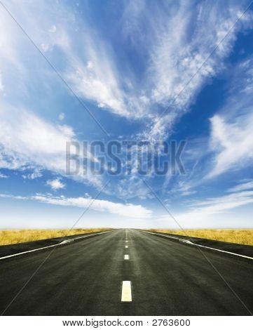 Beautiful Road To Nowhere Spring Horizon