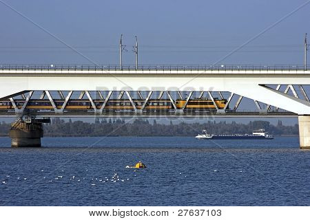HSL Moerdijkbrug for the fast trains over het hollandsch diep in the Netherlands