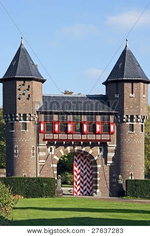Two towers from castle 'De Haar' in the Netherlands