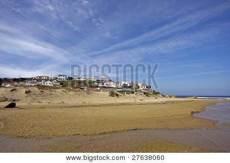 Monte Clerigo at the Atlantic Ocean in the Algarve in Portugal