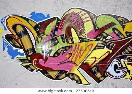 Urban graffiti in Lisbon Portugal