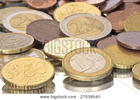 Euro coins from Europe