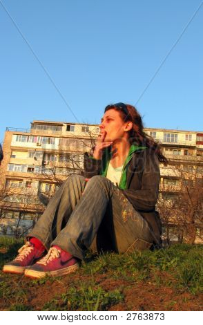 Mädchen rauchen