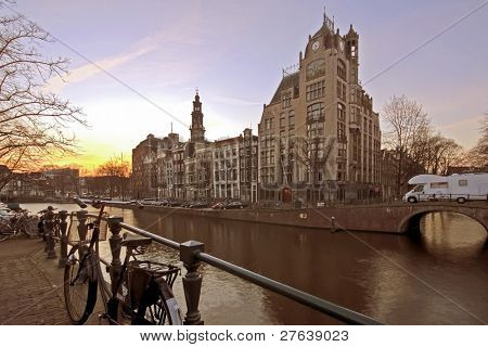 Amsterdam De Jordaan in the Netherlands