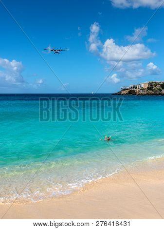 Maho Beach In St Martin