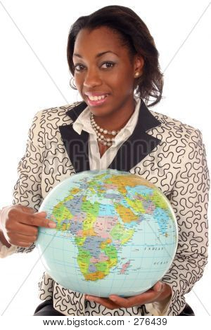 Closeup Of Woman With Travel On Her Mind