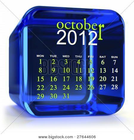 Blue October Calendar