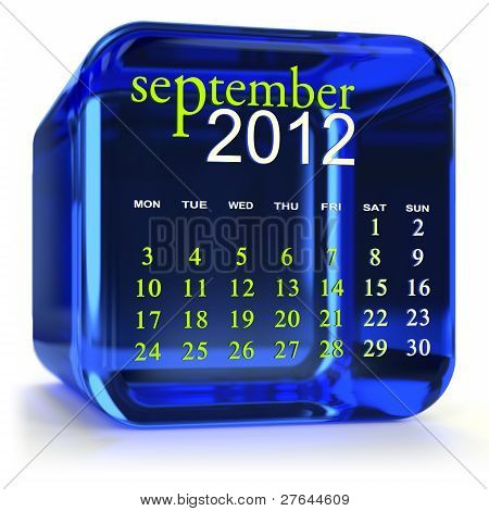 Blue September Calendar
