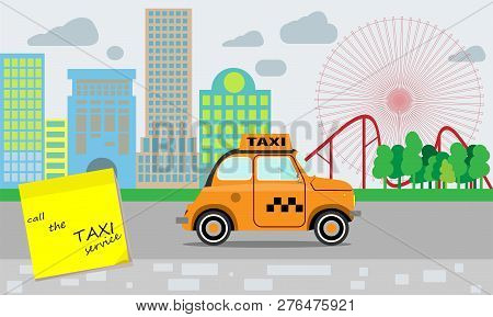 Taxi Service Yellow Taxi Reminder