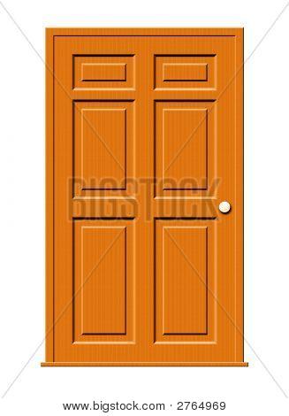 Wood Door Illustration