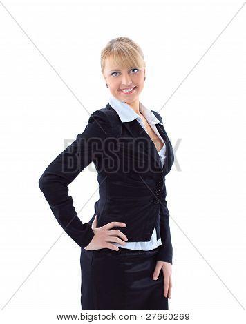 Beautiful casual young woman standing