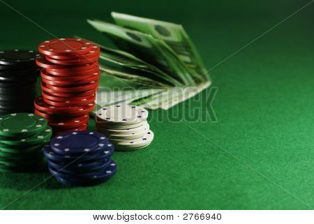 Dibs And Money On The Casino Table