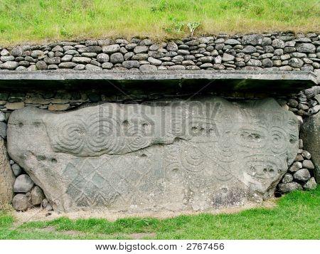 Stone With Geometric Patterns
