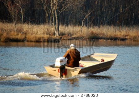 Boater On Swift Creek