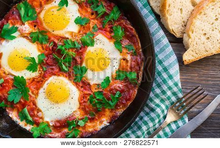 Fried Eggs With Vegetables And