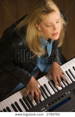 Female Musician Performs
