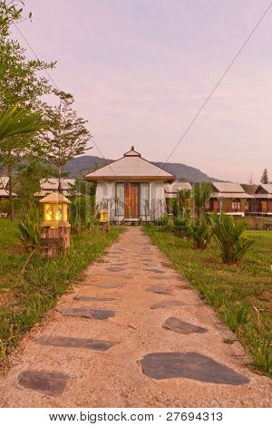 Stone Pathway To Hut Homestay