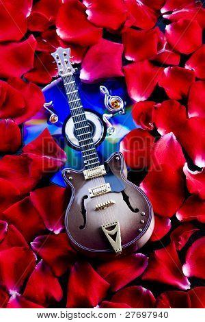 Musical instrumen - guitar and roses