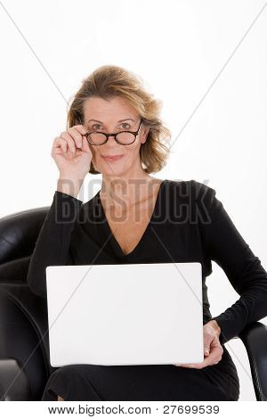 Secretary with laptop