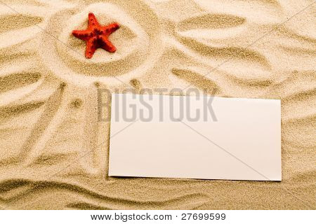 Summer paper letter with shell