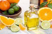 Citrus Essential Oil. Citrus Oil Fruit Vitamin C Serum Oil Beauty Care, Anti Aging Natural Cosmetic. poster