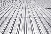 Metal Sheet Roof, Corrugated Metal Texture Surface Or Galvanize Steel Background poster