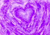 A Painting Of Purple Heart, Valentine Heart On Canvas.colorful Abstract. Oil Painting On Canvas. poster
