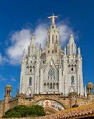 Spain Barcelona Temple De Sagrat Cor Tibidabo poster