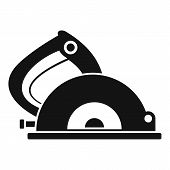 Circular Saw Icon. Simple Illustration Of Circular Saw Icon For Web Design Isolated On White Backgro poster
