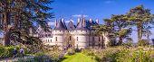 Castle Or Chateau De Chaumont-sur-loire, France. This Old Castle Is A Landmark Of Loire Valley. Pano poster