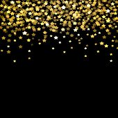 Background, Confetti, Gold, Golden, Holiday, Shiny, Pattern, Glitter, Party, Falling, Christmas, Cel poster