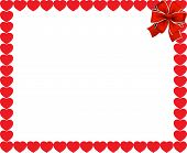 Valentines Day Or Wedding Background. Red Hearts Border Frame With Space For Text Or Image And Red F poster
