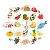 Vitamine Icons Set. Isometric Set Of 25 Vitamine Icons For Web Isolated On White Background poster