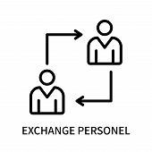 Exchange Personel Icon Isolated On White Background. Exchange Personel Icon Simple Sign. Exchange Pe poster
