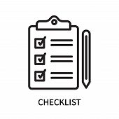 Checklist Icon Isolated On White Background. Checklist Icon Simple Sign. Checklist Icon Trendy And M poster