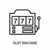 Slot Machine Icon Isolated On White Background. Slot Machine Icon Simple Sign. Slot Machine Icon Tre poster