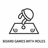 Board Games With Roles Icon Isolated On White Background. Board Games With Roles Icon Simple Sign. B poster