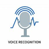 Voice Recognition Icon Isolated On White Background. Voice Recognition Icon Simple Sign. Voice Recog poster